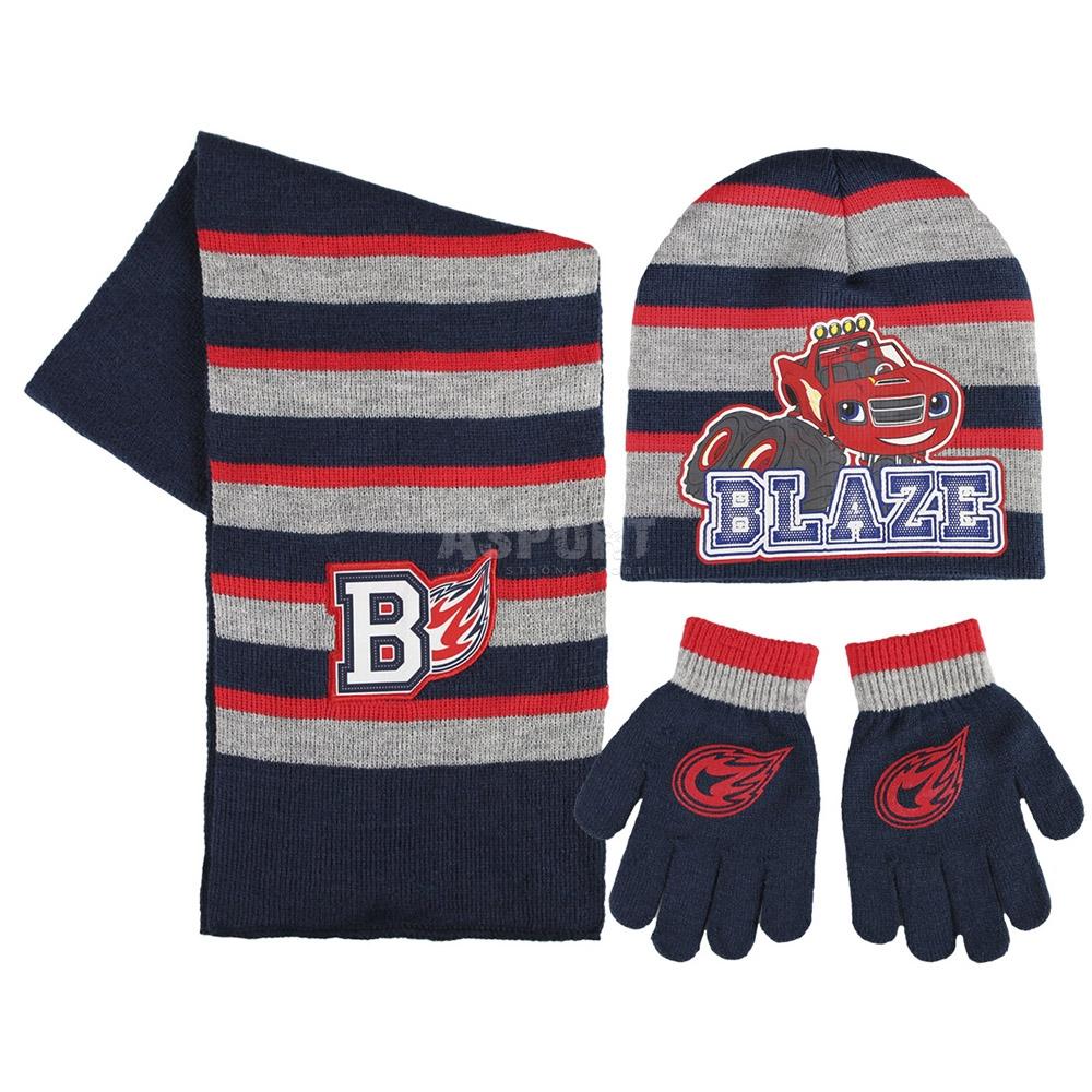 0ab33c2b7 Komplet dziecięcy: czapka + rękawiczki + szalik BLAZE I MEGAMASZYNY ...
