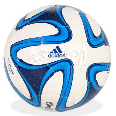 7db9d735514cc Piłka nożna, treningowa, na sztuczne nawierzchnie BRAZUCA GLIDER Adidas -  Kolor biały